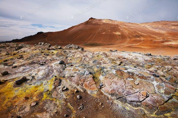 Geothermisches Gebiet in Island