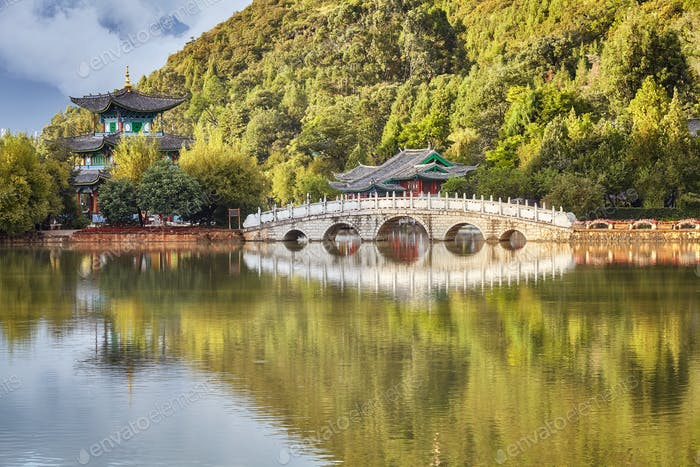 Jade Spring Park in Lijiang, China