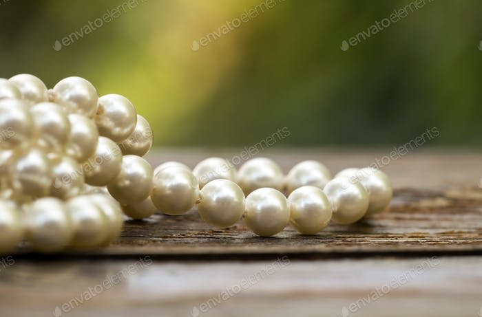 White pearls jewelry