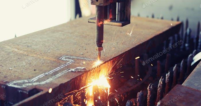Hochpräzises CNC-Gasschneiden Blech