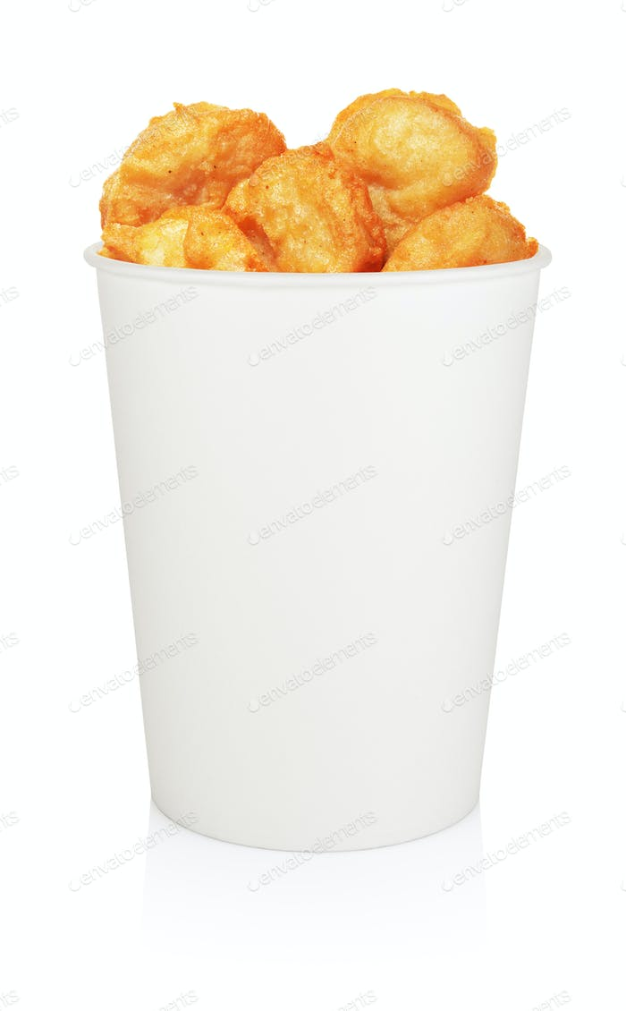 Chicken nuggets bucket isolated