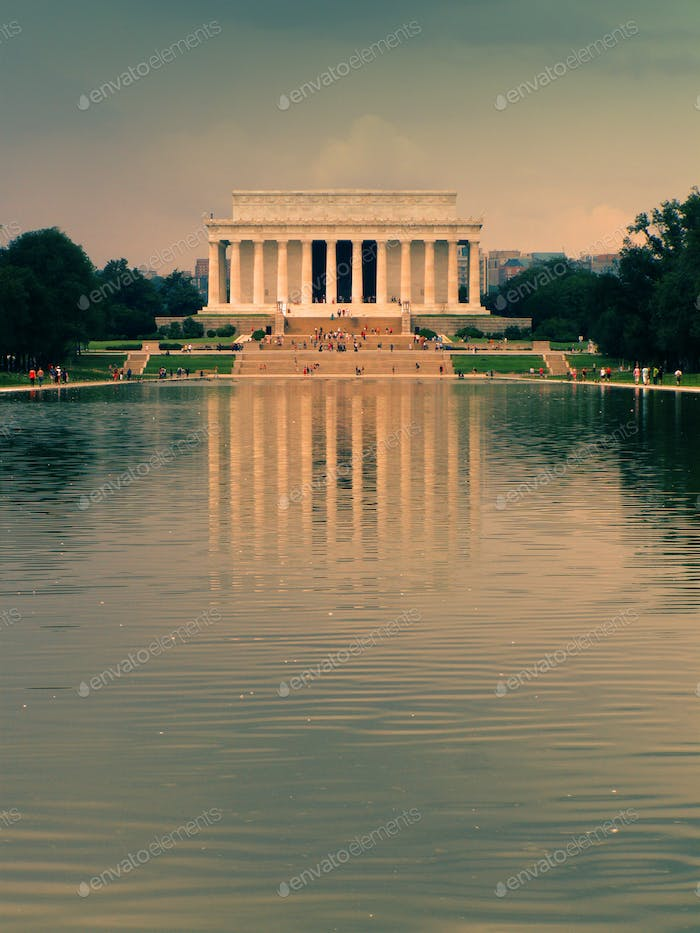 Lincoln Memorial Reflecting Pool Washington