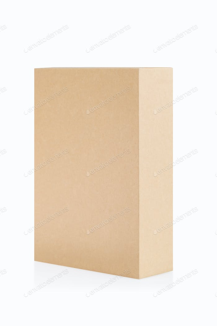 brown paper box isolated