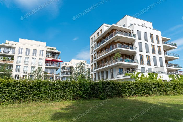 Modern apartment houses in Berlin