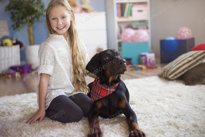 Portrait of a girl and her best friend