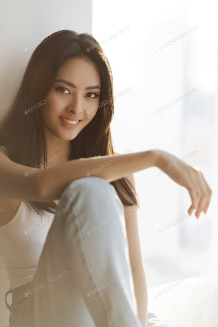 Asian Woman Portrait Indoors