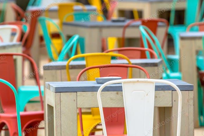 Colorful terrace restaurant