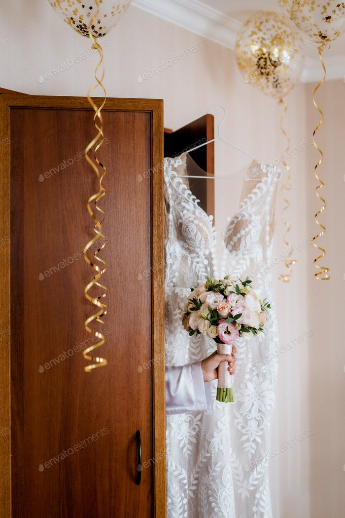 wedding dress with corset and lacing