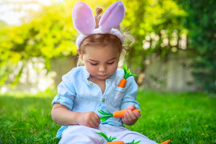 Cute little Easter bunny