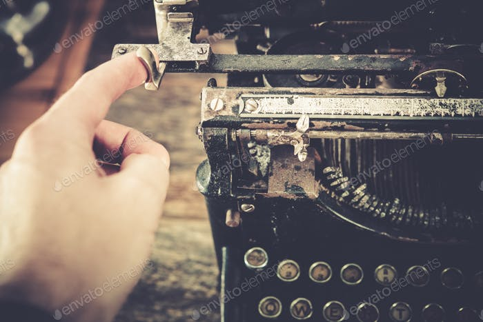 Typewriting on Vintage Machine