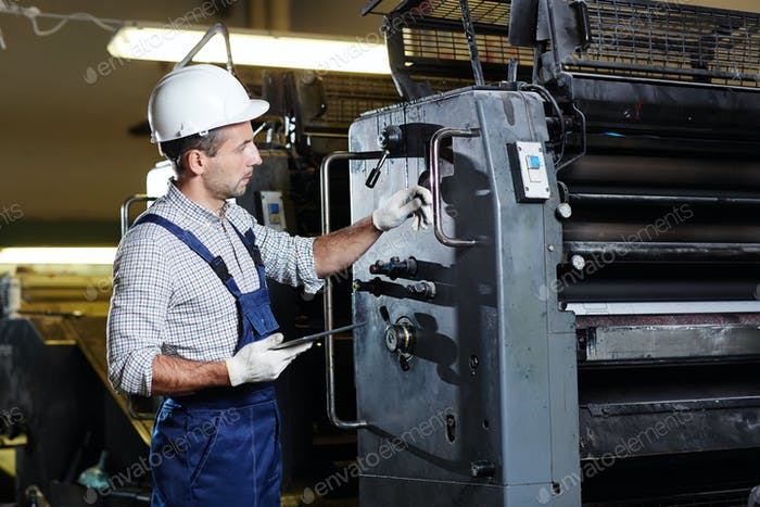 Industrial machine service