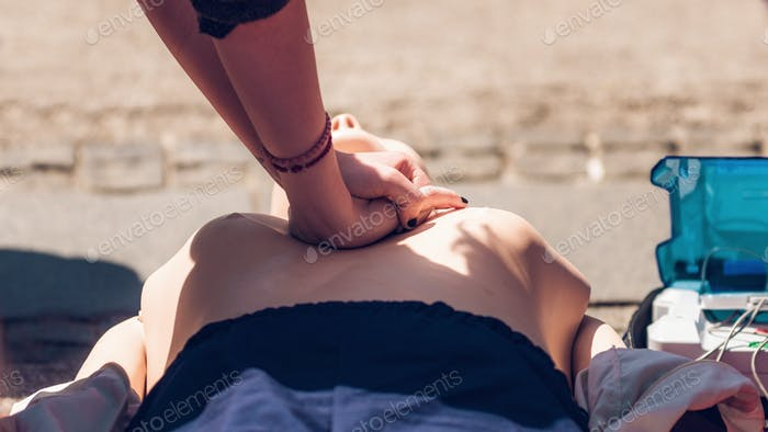 Defibrillator CPR Practice