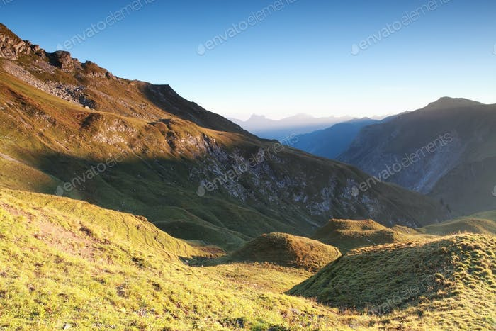 morning in mountains, Austrian Alps