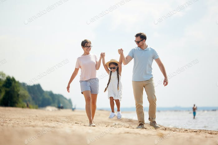 Carefree Family Enjoying Vacation