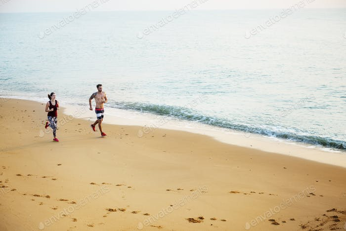 Thumbnail for Run Exercise Beach Sport Coast Sprint Nature Concept