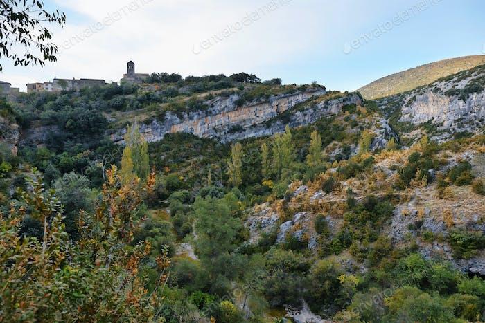 Views of Sierra de Guara National Park near Rodellar village, Spain