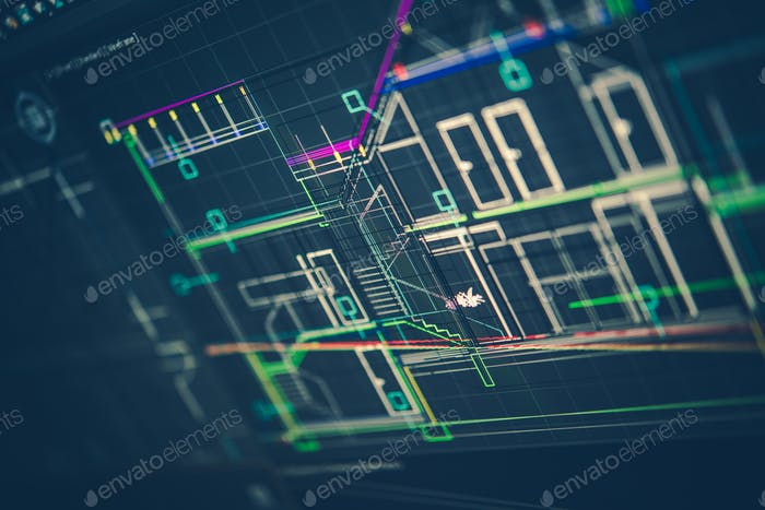 Architektonische Technische Zeichnung