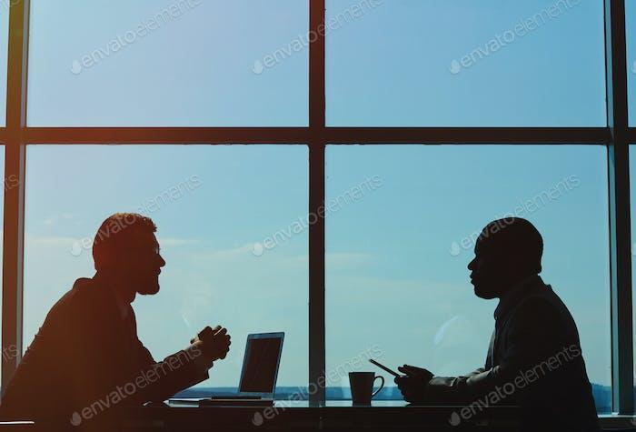 Outlines of businessmen
