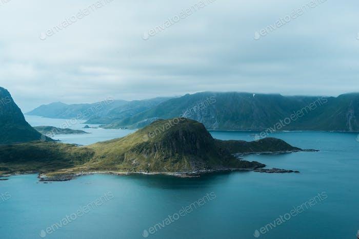 Lofoten beach hills