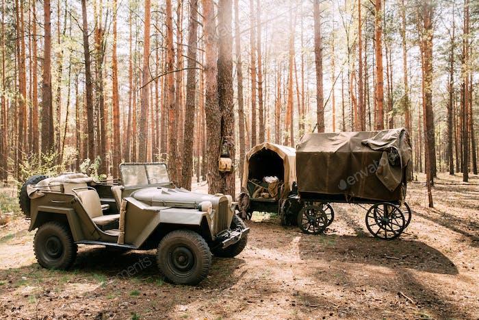Russian Soviet World War Ii Four-wheel Drive Army Truck Gaz-67 C