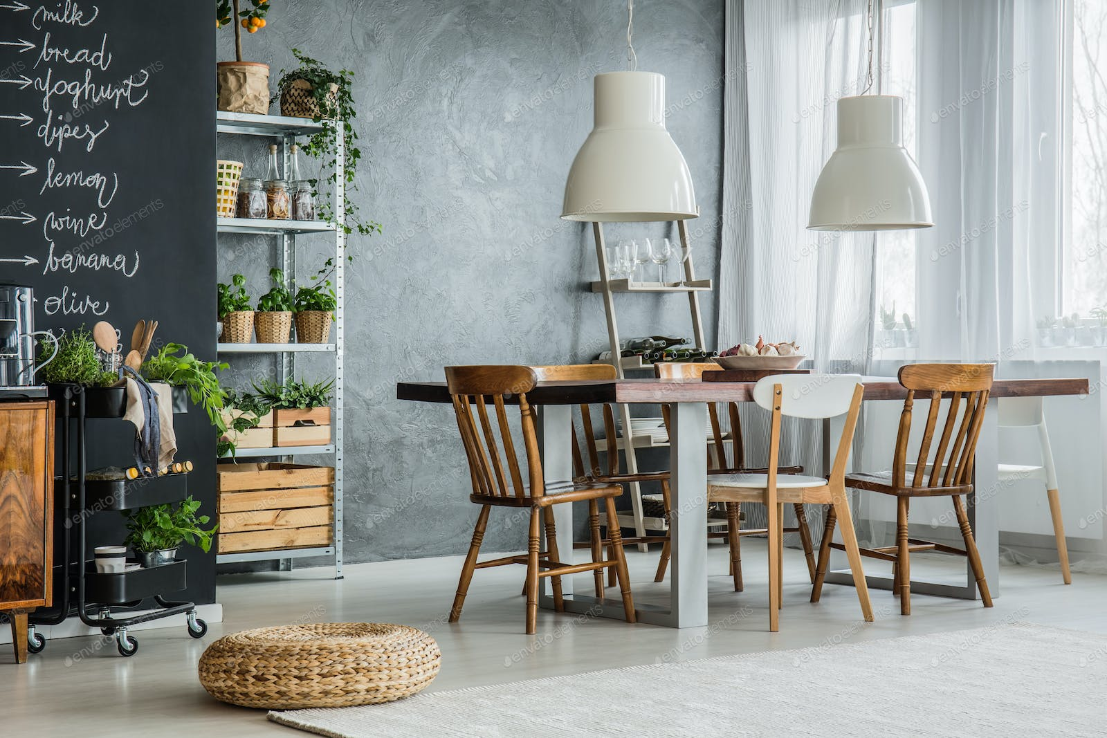All The Templates You Can Download On Envato Elements - Chalkboard accents dining rooms