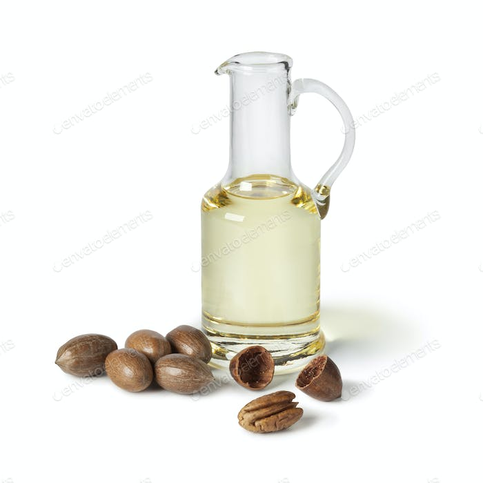 Can with pecan oil