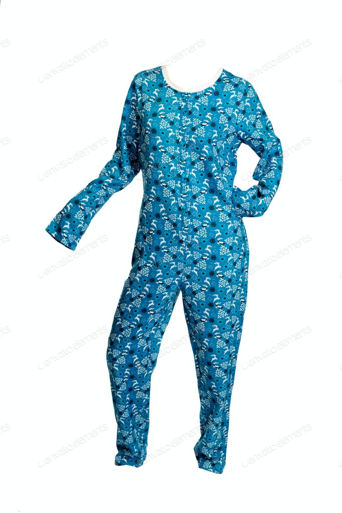 Blue overalls for adults.