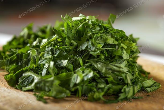 fresh green chopped parsley