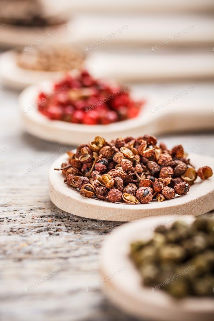 Sichuan peppercorns