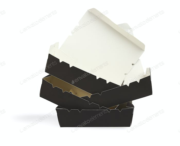 Black Takeaway Paper Boxes