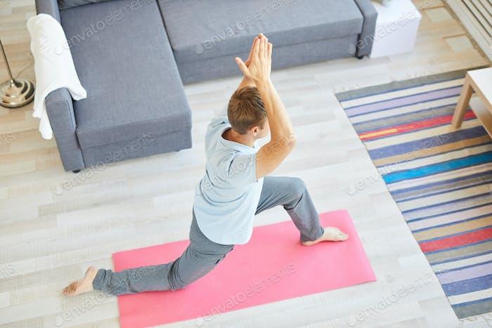 Exercising on mat