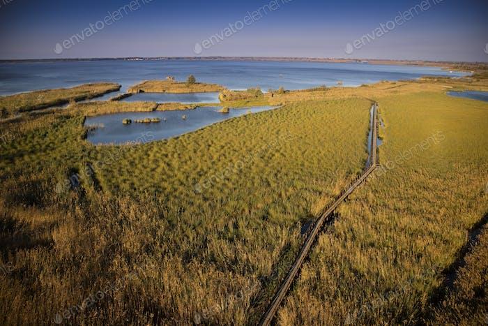 Luftbild Sumpf Viareggio