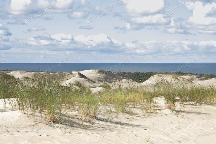 Beautiful Baltic Sea sand beach. Lithuania