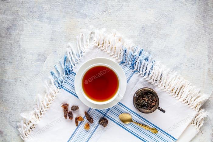 Cup of hot black tea