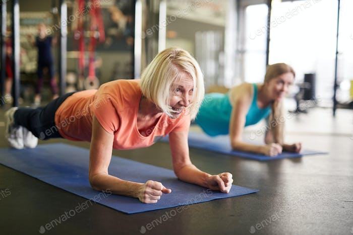 Woman in plank