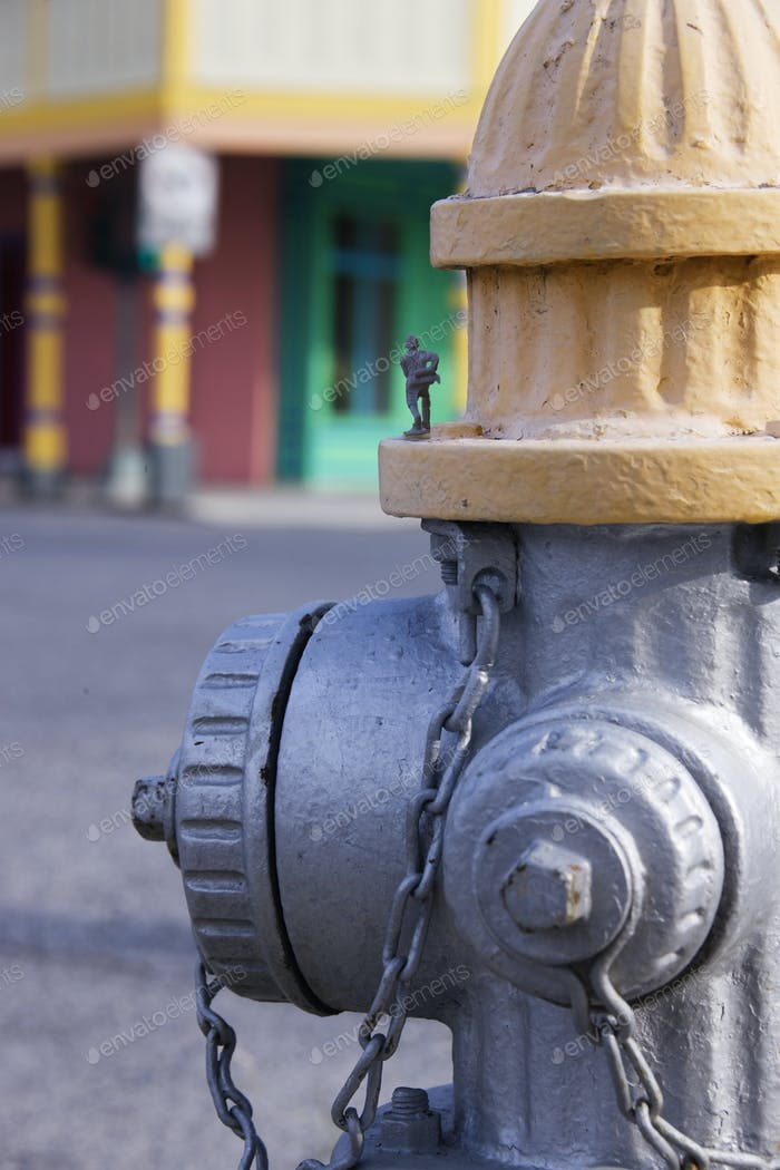 Plastic Soldier on a Fire Hydrant
