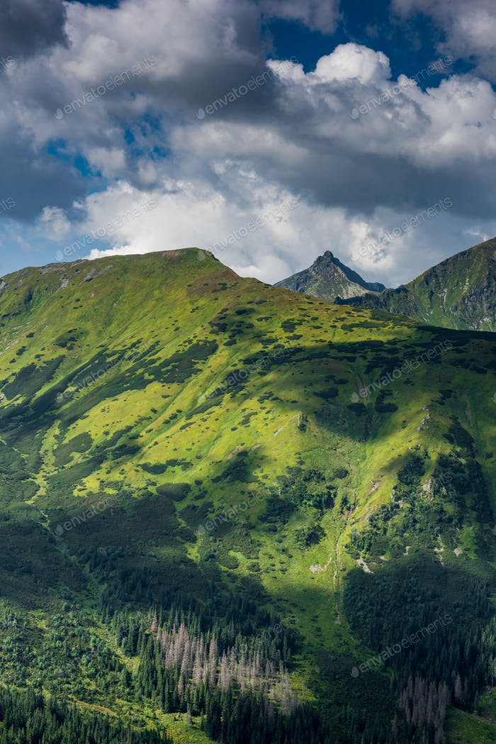 Beautifull View Over Hils and Peaks in Tatras Mountains, Poland
