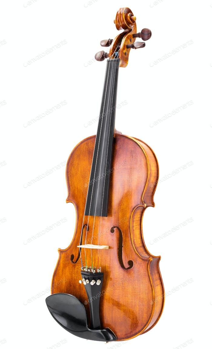 Handmade wooden violin