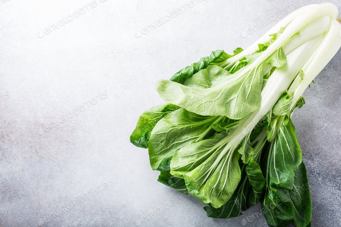 Fresh bok choy, chinese cabbage