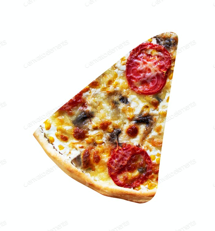 a slice of pizza isolated
