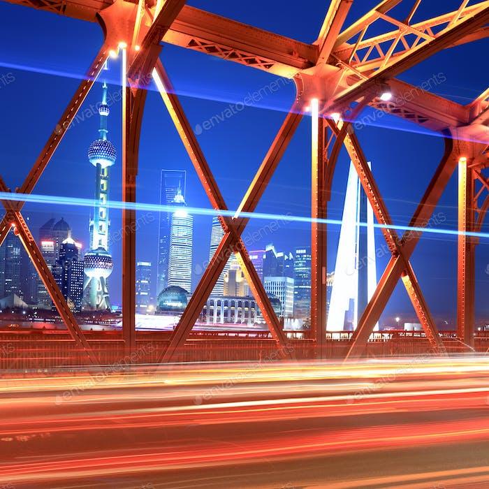beautiful night shanghai