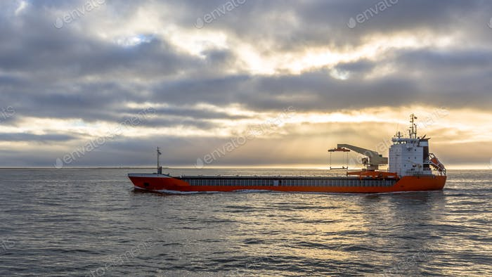 Freight ship on the North Sea