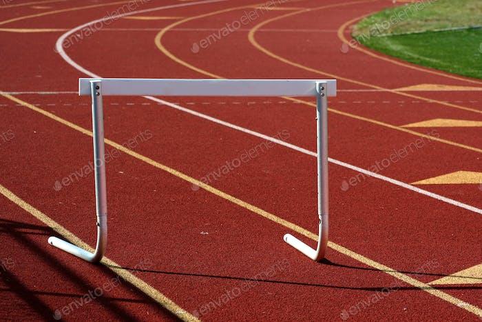 Running track hurdle
