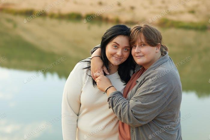 Zwei schöne Lesben