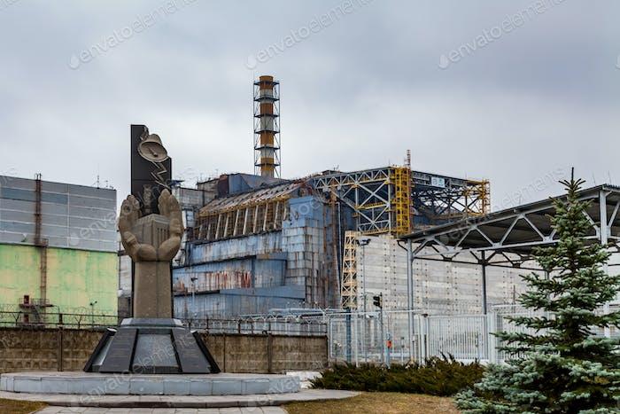 Pripyat, Chernobyl exclusion zone. Chernobyl nuclear power plant.