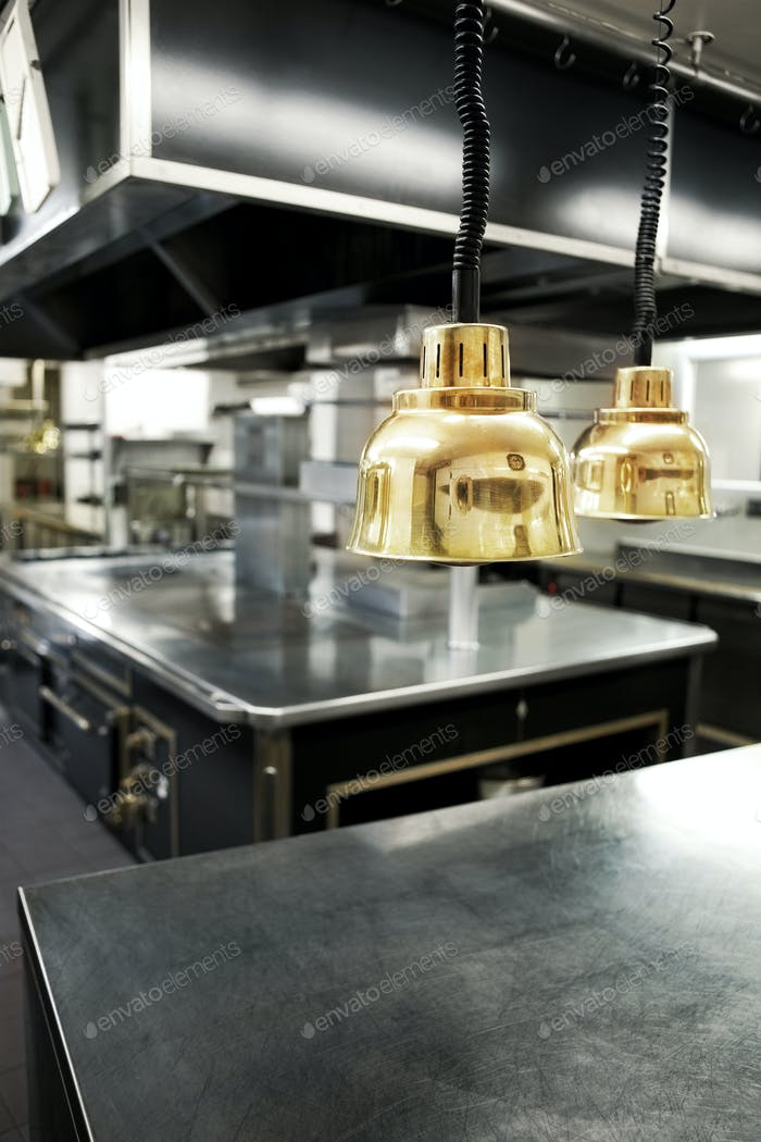Inside a professional kitchen