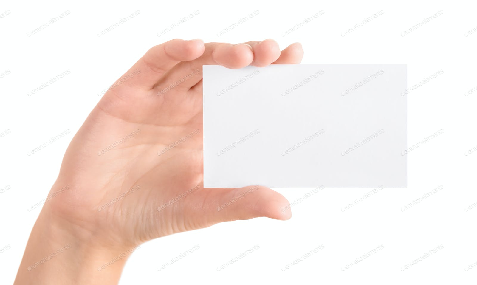 Hand holding blank business card isolated photo by Bloomicon on ...