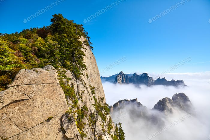 Huashan National Park Berglandschaft, China.