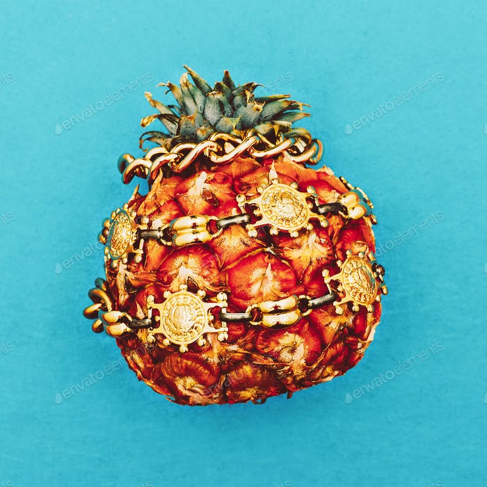 Ananas. Mode. Bijouterie. Minimale Kunst.