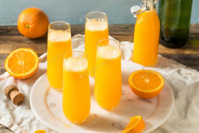 Boozy Champagne Mimosa with Orange Juice